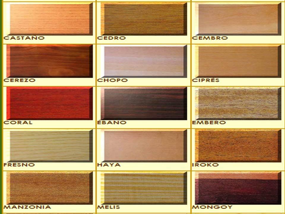 Curiosidades de la madera tipos de madera for Diferentes tipos de muebles