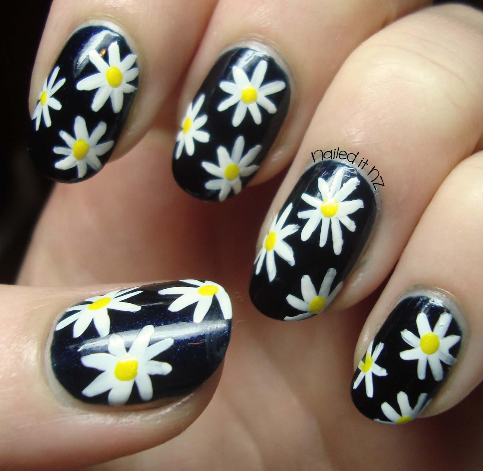 Nailed It NZ: Daisy Nails Tutorial