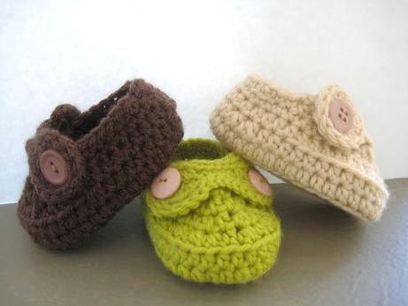 Crochet Patterns For Easy Baby Booties : Crochet Dreamz: Boys Striders Crochet Baby Booties (pdf ...