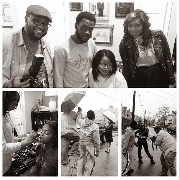 Behind the scenes  Photo Shoot for Gospel Artist APRIL BROWN