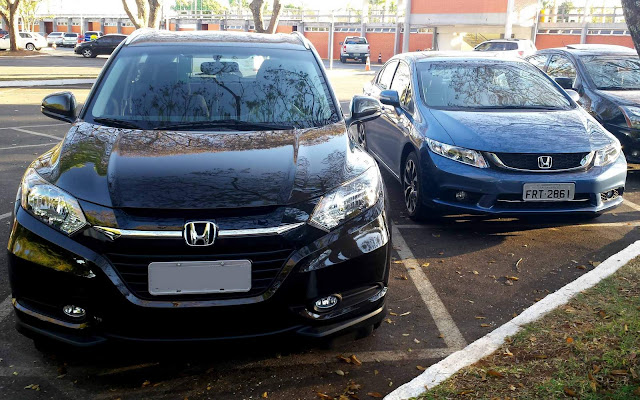 Honda HR-V x Honda Civic - comparativo