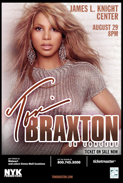 Upcoming Concerts: Toni Braxton performing live in concert in Miami on August 29