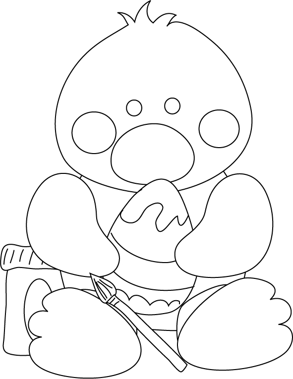 easter chicks coloring pages - photo#15