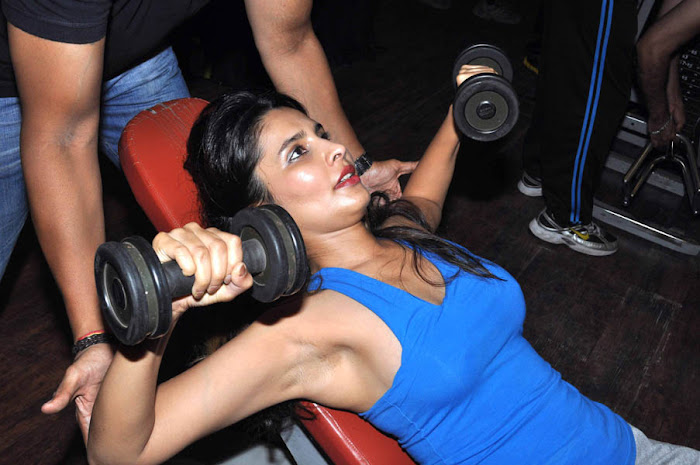rachana shah's fitness workout cute stills