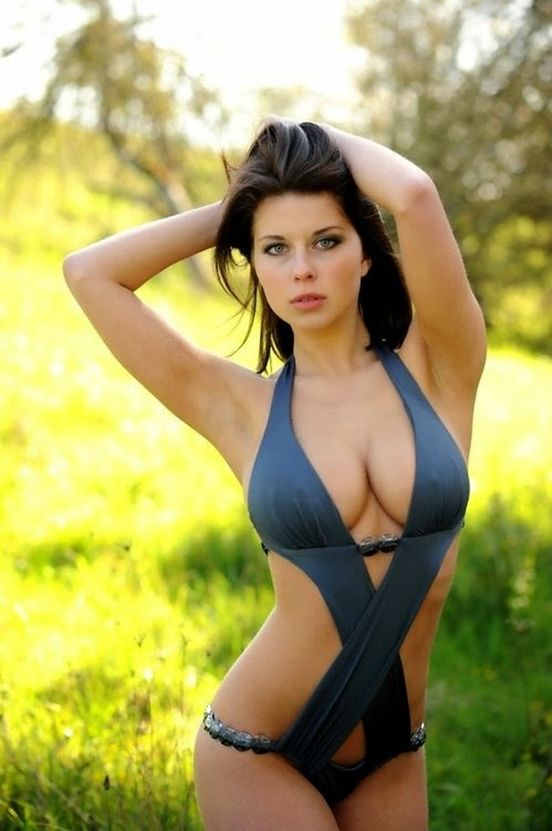 Beautiful bikini blue and grey