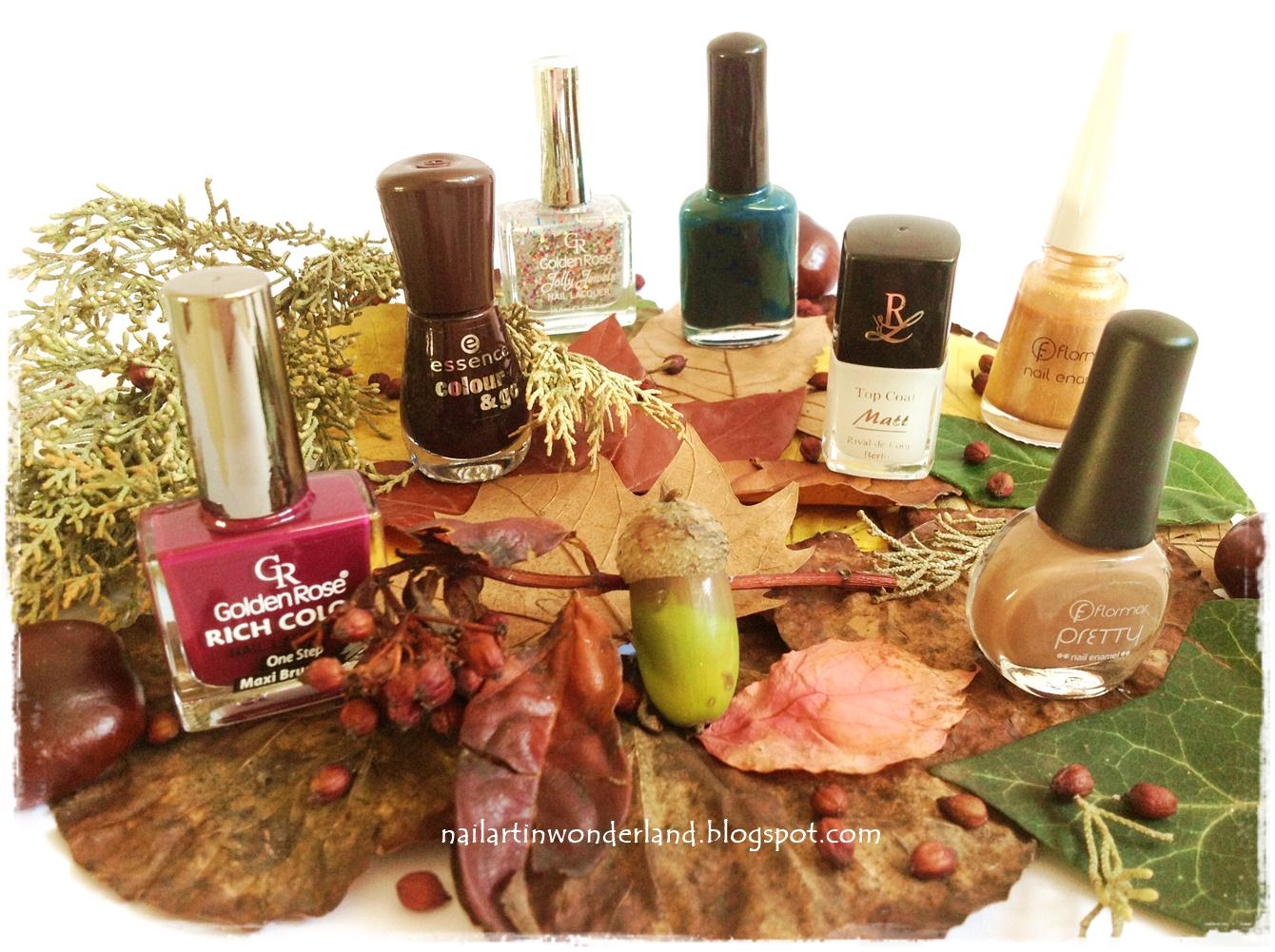 My favorite fall polishes - Sonbahar ojelerim