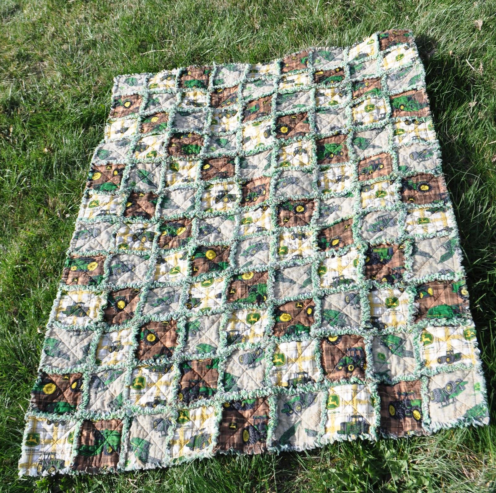 Richard And Tanya Quilts John Deere Rag Quilt