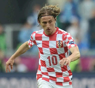 Luka Modric playing with Croatian jersey at Euro 2012