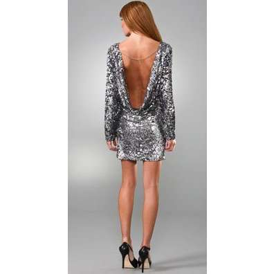 Sequin dresses long sleeve she fashions for Long sleeve sequin wedding dress