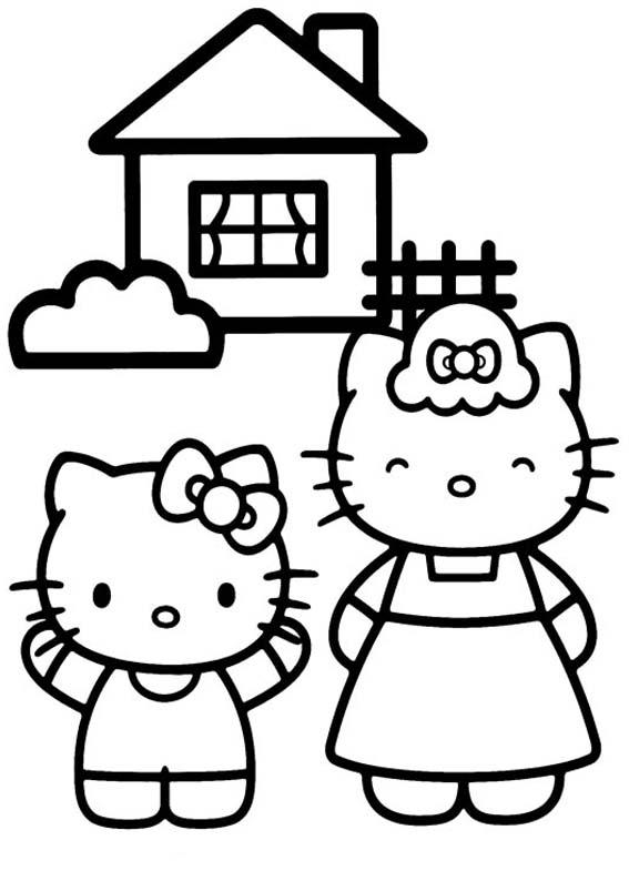 Desenho como desenhar Hello Kitty Fofo pintar e colorir