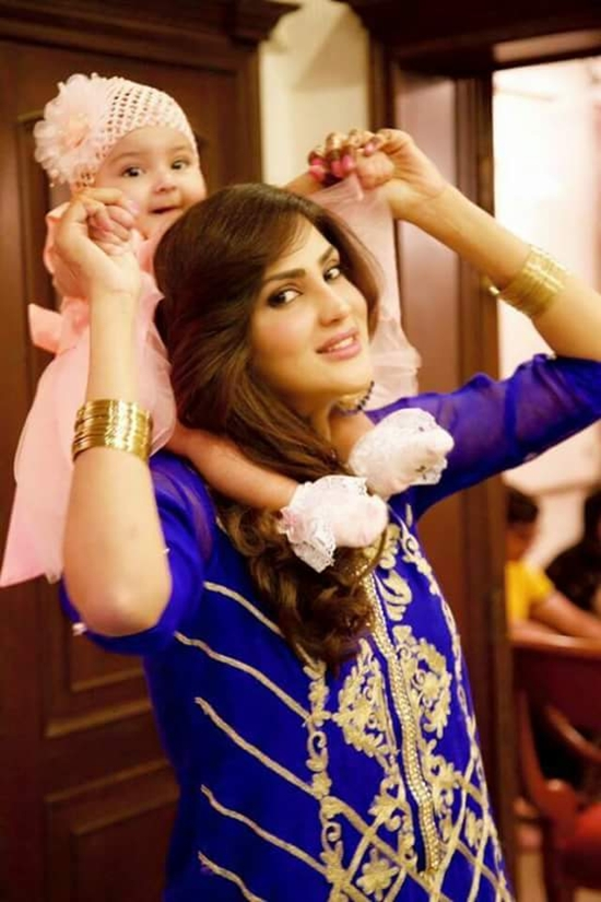 Fiza Ali with her daughter Faraal