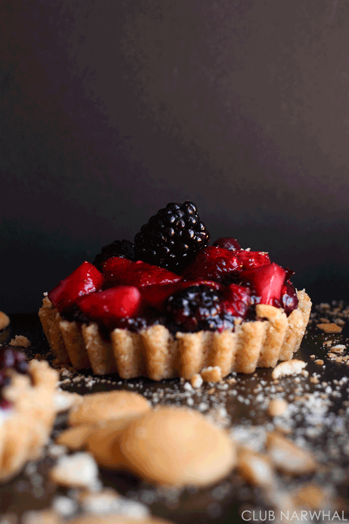 Triple Berry Tarts  | Club Narwhal