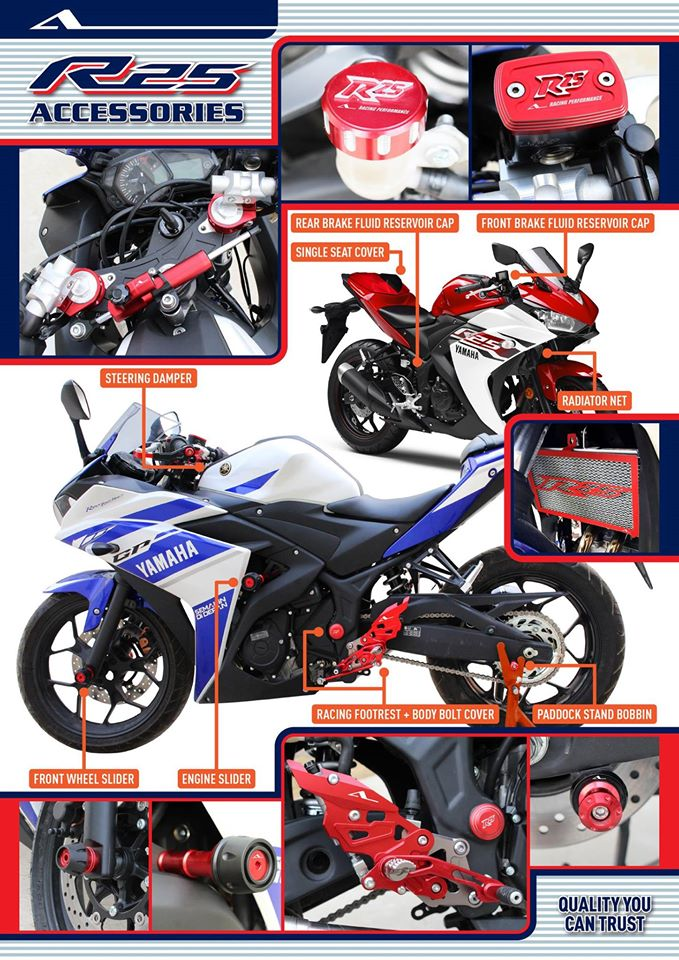 Motor accessories yamaha r25 palex motor parts online store for Yamaha store online