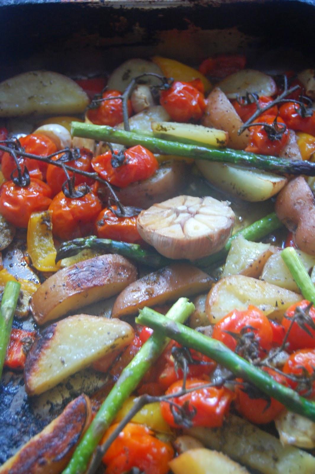 Roasted veg ready to serve
