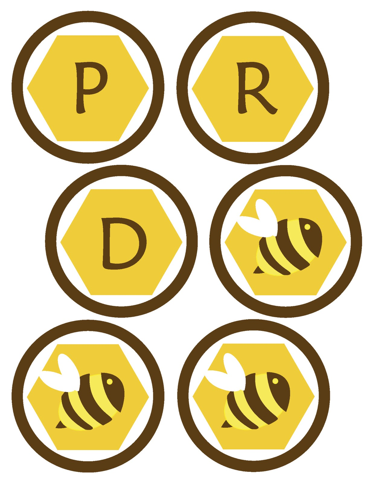 This is a graphic of Accomplished Honey Bee Printables