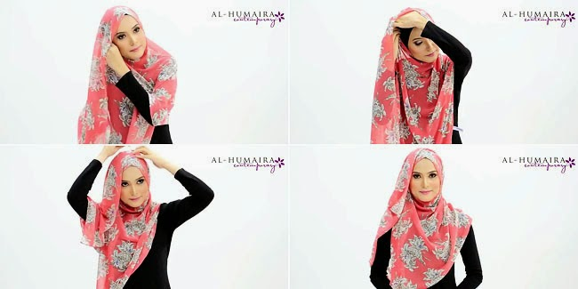 Tutorial Hijab menutup dada