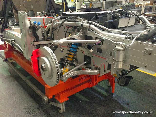 Lotus Evora aluminium chassis