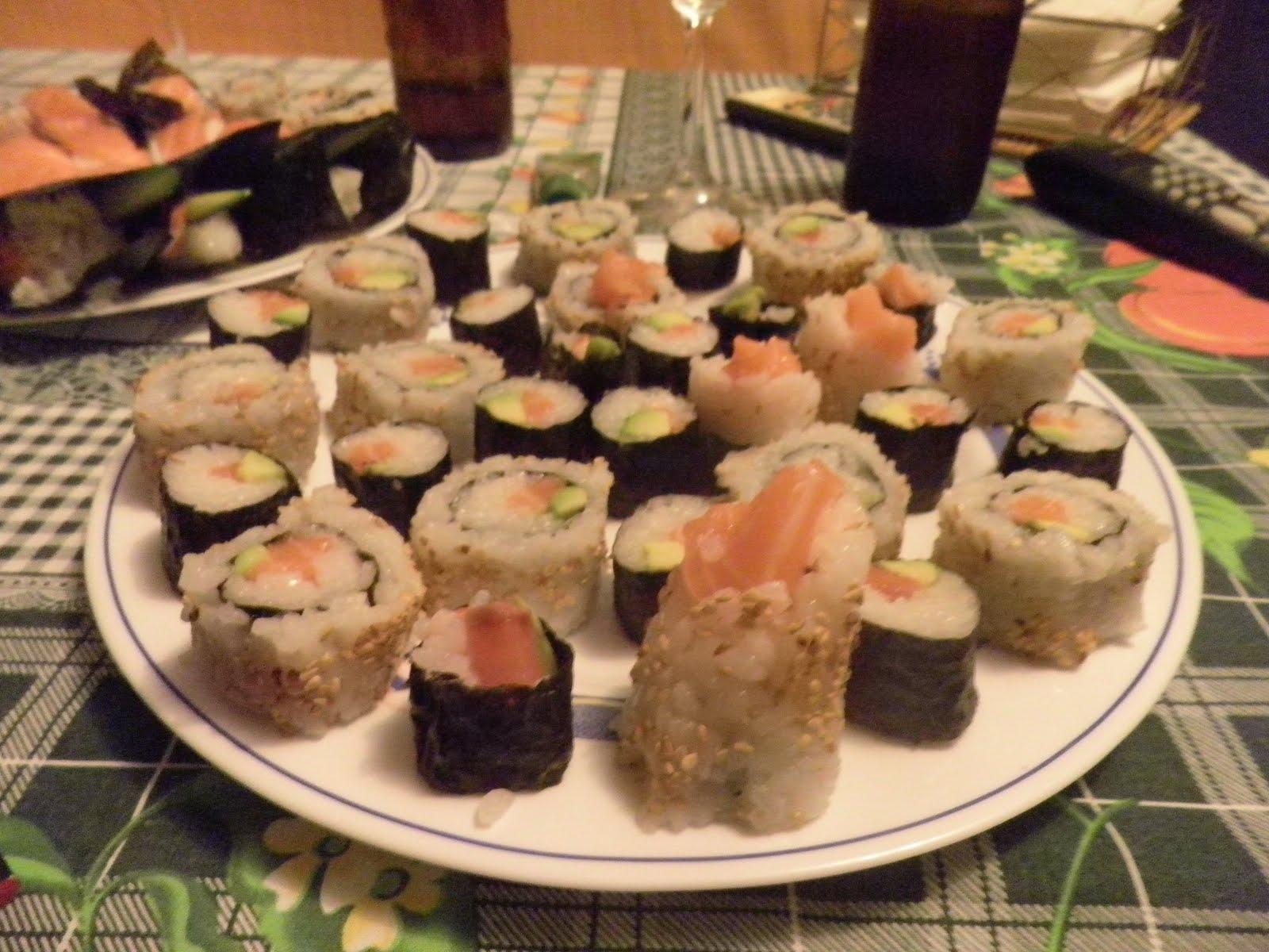 me desestresa cocinar sushi en casa