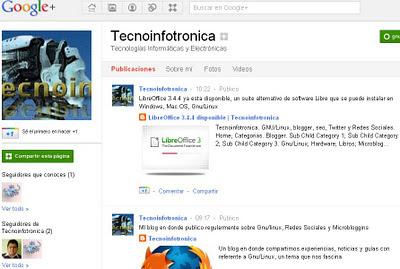 Tecnoinfototronica Google plus