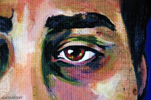 aliciasivert, alicia sivert, alicia sivertsson, andreas, målning, akryl, canvas, acrylic paint, acrylics, portrait, porträtt, man, colours, detail, eye, detaljbild, öga