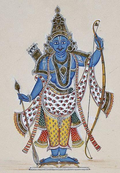 The Hindu god, Rama, avatar of Vishnu, one ...
