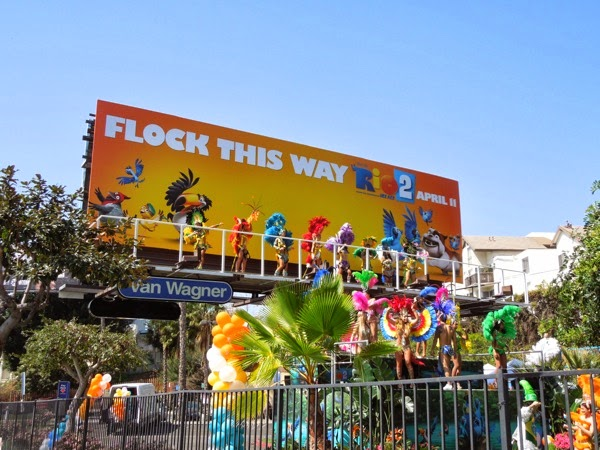 Rio 2 Living Mardi Gras carnival dancers billboard
