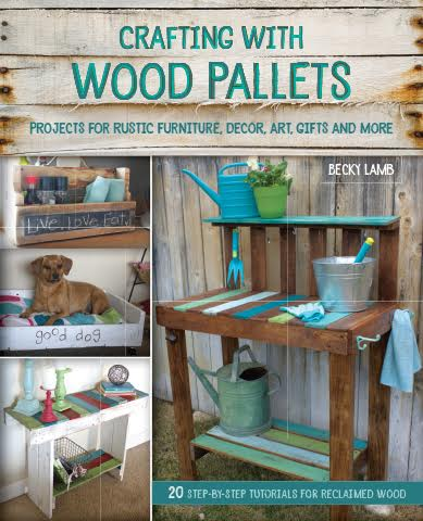 book giveaway, pallets, how to. DIY, build it, Crafting with Wood Pallets, http://bec4-beyondthepicketfence.blogspot.com/2015/09/crafting-with-wood-pallets-giveaway.html