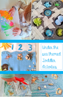 Ocean themed activities for tots: Montessori activities for Toddlers by Welcome to Mommyhood