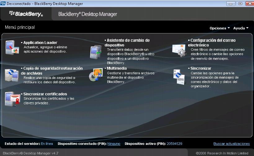 Como instalar Blackberry Desktop Manager