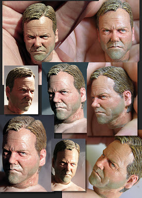 Jack Bauer 1/6 Headsculpt Statue by SiMo Sol
