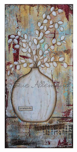 Sue Allemand, art, mixed media, grateful, joyful, gifts, inspirational