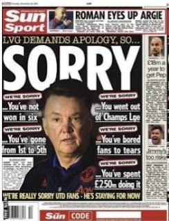 Tabloid The Sun Minta Maaf kepada Louis van Gaal