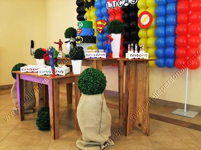 decoração festa aniversario super herois