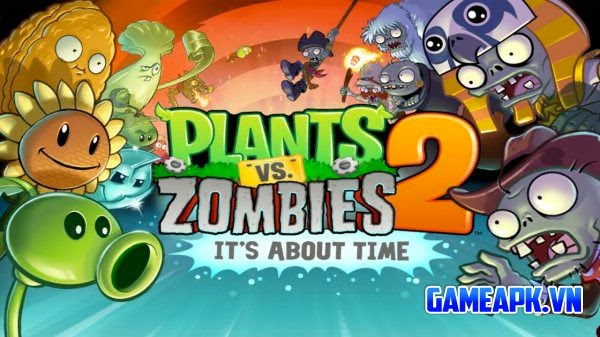 Plants vs. Zombies™ 2 v2.5.1 hack full tiền xu, đá quý cho Android