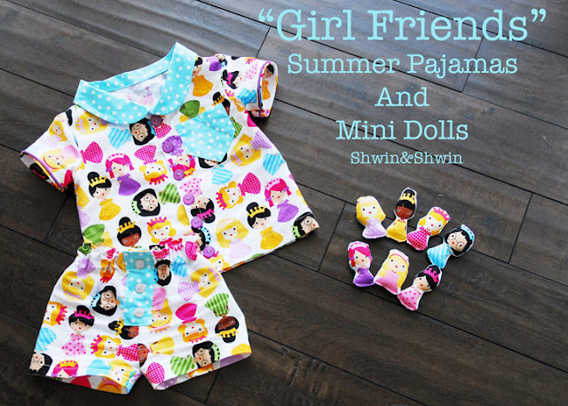free pattern girlfriend summer pajamas