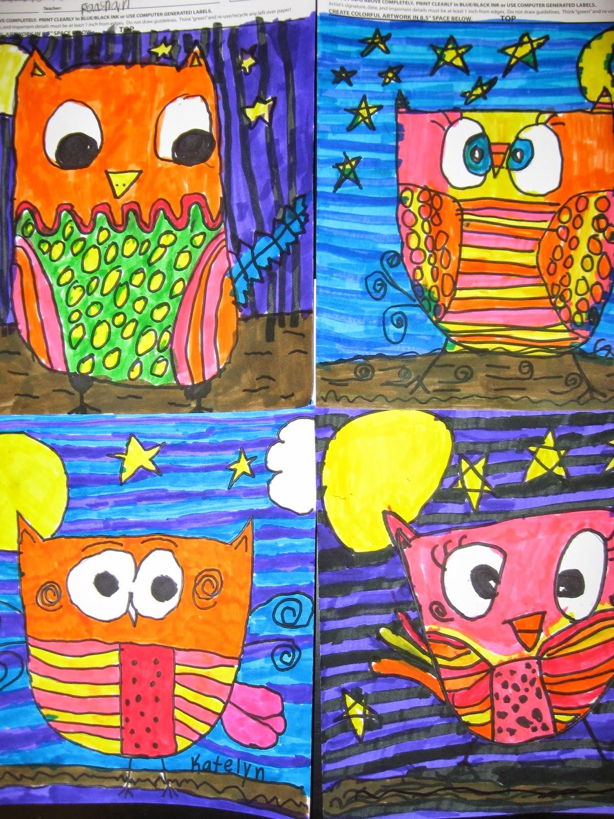 Line Art Lesson For Kindergarten : Jamestown elementary art square