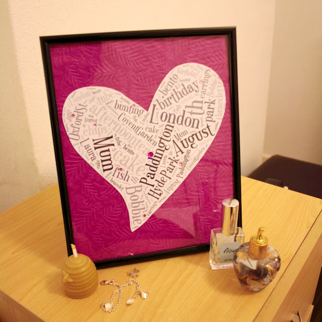 Word cloud art - pretty in pink and makes a wonderful present