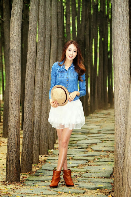 4 Eun Bin outdoor - very cute asian girl - girlcute4u.blogspot.com