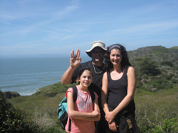 mom, dad and I on the hike