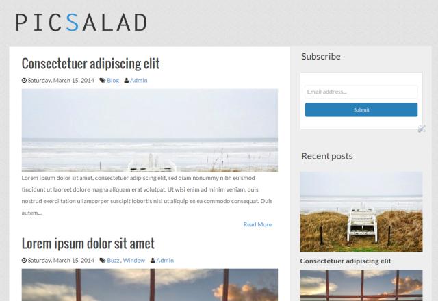Picsalad Responsive Blogger Template