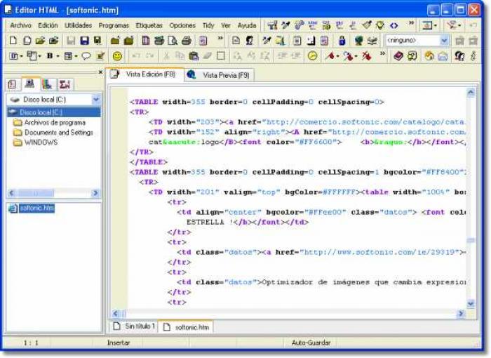 editores html gratis: