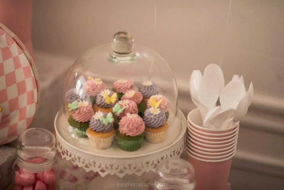 cupcakes fleuris