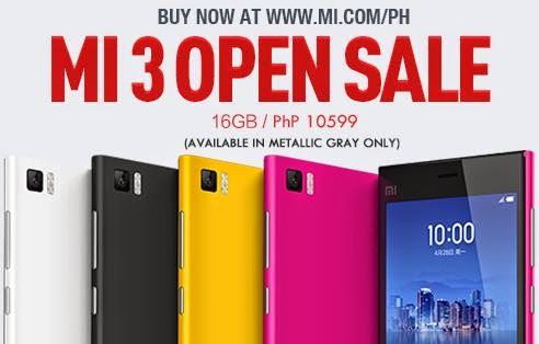 Xiaomi Mi 3 Now On Open Sale, Still at Php10,599