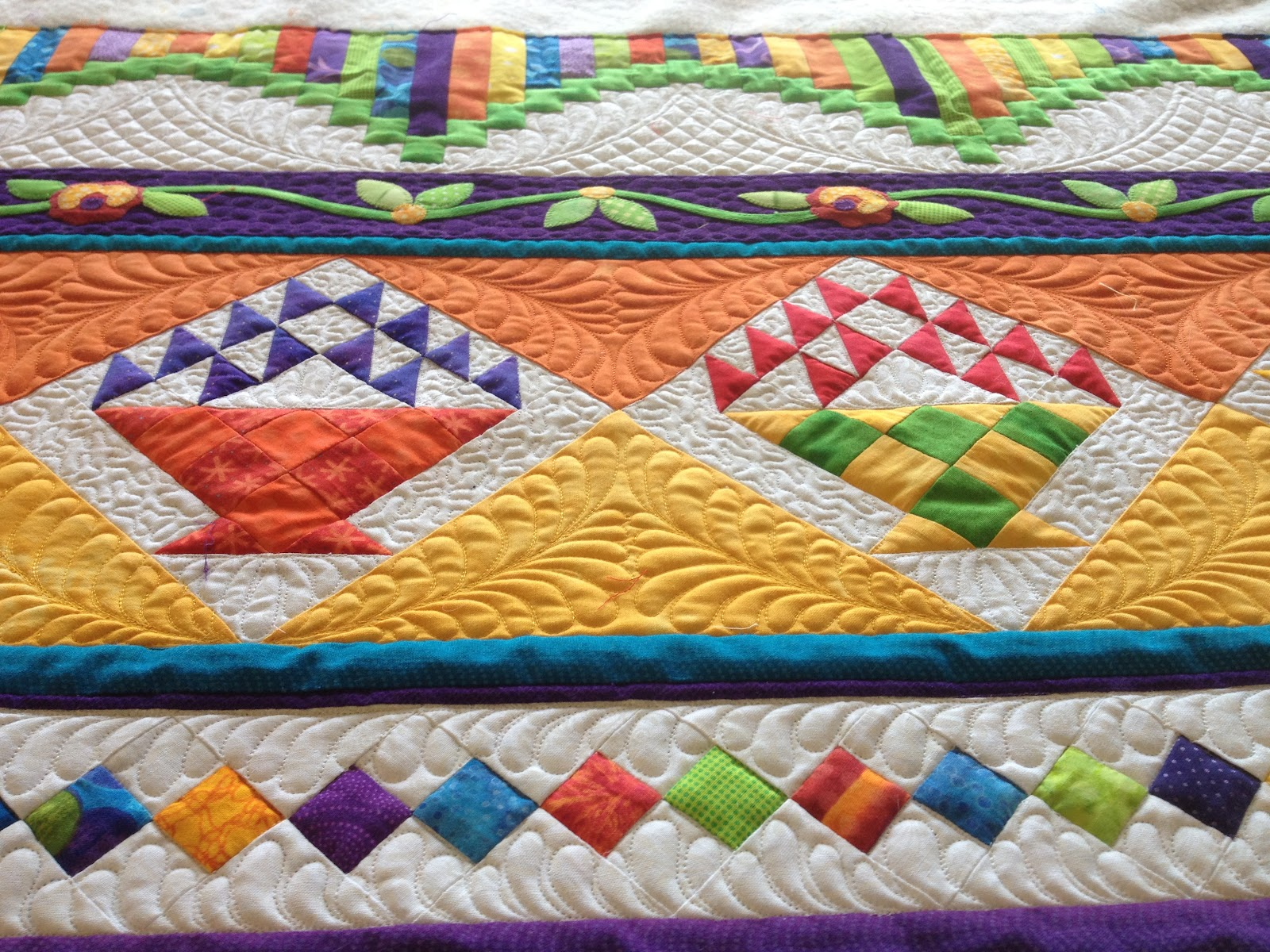 That Crazy Quilty Girl: Holy sheezy! And Ruffled Roses (lots of ... : bright colored quilts - Adamdwight.com