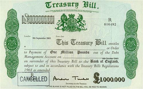 Rare £1 million Treasury Bill for £10k? | Lunaticg Coin