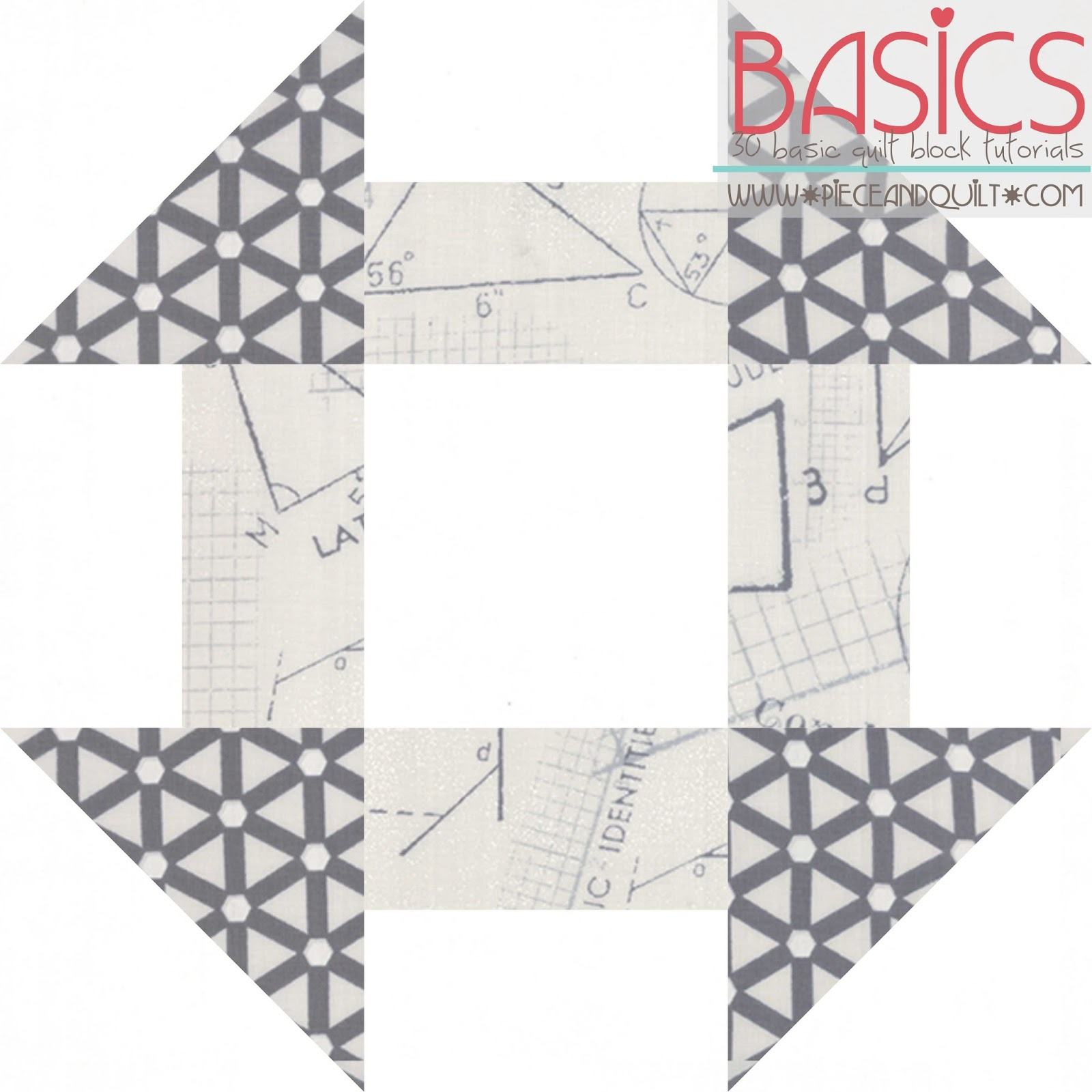 Piece N Quilt: How to: Churndash Quilt Block - Basics Quilt Block ... : churn dash quilt block - Adamdwight.com