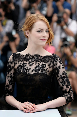 Emma Stone Cocktail Dress Irrational Man Cannes Film Festival Photocall