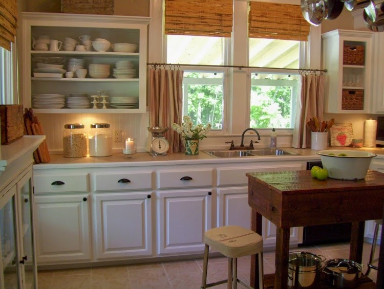 small window curtains for magical kitchen - Kitchen Window Decorating Ideas