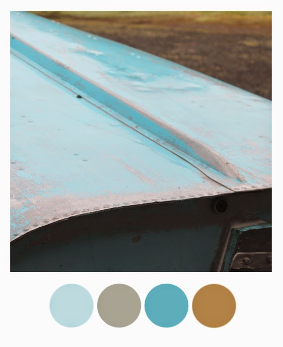 Color Palette: Ice blue, grey wolf, ocean blue and twig