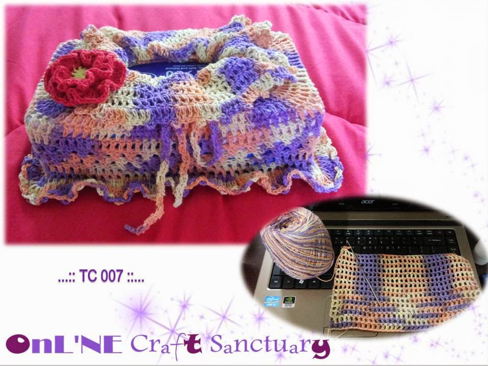 online craft sanctuary crochet tissue cover warna